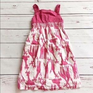 Old Navy girls dress giraffes pink sleeveless